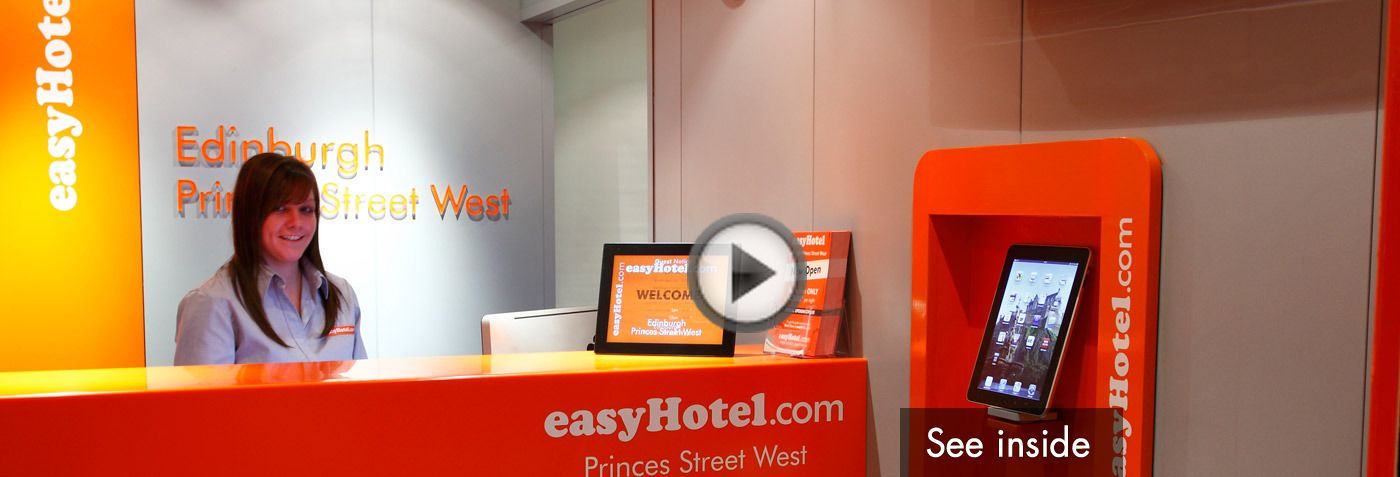 Virtual tour of easyHotel Edinburgh - see inside the hotel from Princes Street, Edinburgh on google maps.